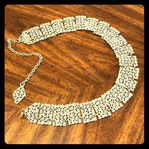 Neiman Marcus Silver tone chain belt